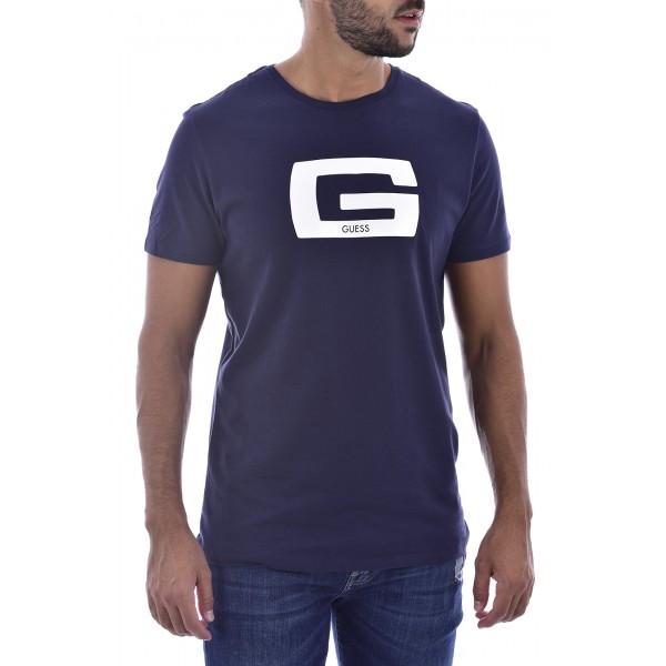 T-shirt Guess bleu nuit