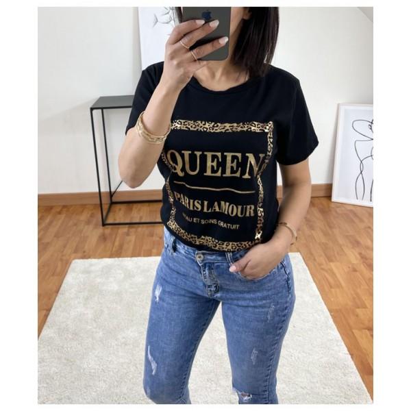 T-shirt Queen Paris Noir